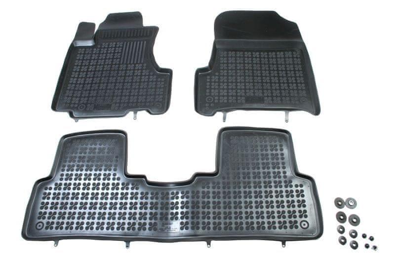 REZAW-PLAST Gumové koberce, sada 3 ks (2x přední, 1x spojený zadní), Honda CR-V 2007-2012