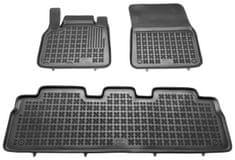 REZAW-PLAST Gumové koberce, sada 3 ks (2x přední, 1x spojený zadní), Renault Espace IV 2002-2014