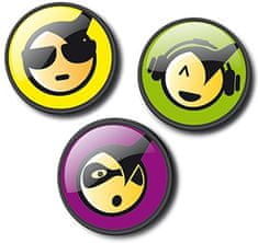 Nikidom Roller Pins Emoticons Cool komplet znački
