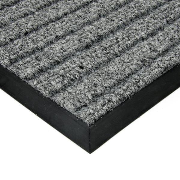 FLOMAT Šedá textilní zátěžová čistící rohož Shakira - 500 x 300 x 1,6 cm