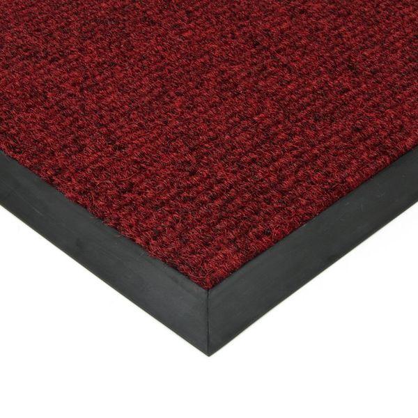 FLOMAT Červená textilní zátěžová čistící rohož Catrine - 500 x 300 x 1,35 cm