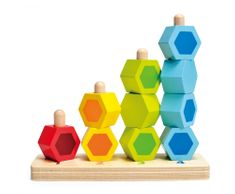 Hape Navlékací barevné šestiboké tvary