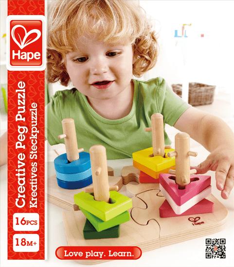 Hape Kreatívne drevené puzzle.