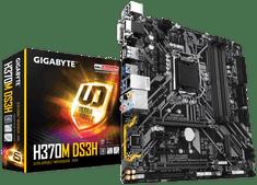 Gigabyte osnovna plošča H370M DS3H, DDR4, SATA3, USB 3.1 Gen 1, HDMI, LGA1151, mATX