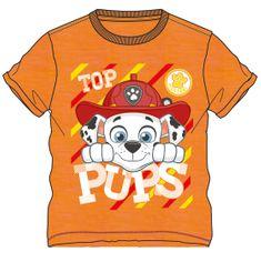 Disney by Arnetta Chlapecké tričko Paw Patrol - oranžové
