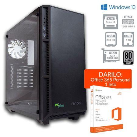 PCplus namizni gaming računalnik Dream machine i7-8700/16GB/SSD240GB+2TB/GTX1060/W10H + Office 365 (137128)