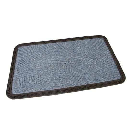 FLOMA Modrá textilní vstupní rohož Chaos - 75 x 45 x 0,8 cm
