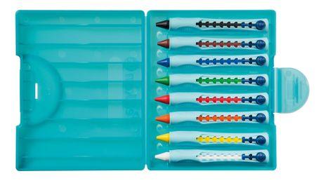 Pelikan svinčnik z voskom Griffix 1, 8 kosov, mešane barve