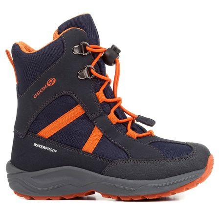 Geox buty zimowe chłopięce New Alaska 31 niebiesko-pomarańczowe