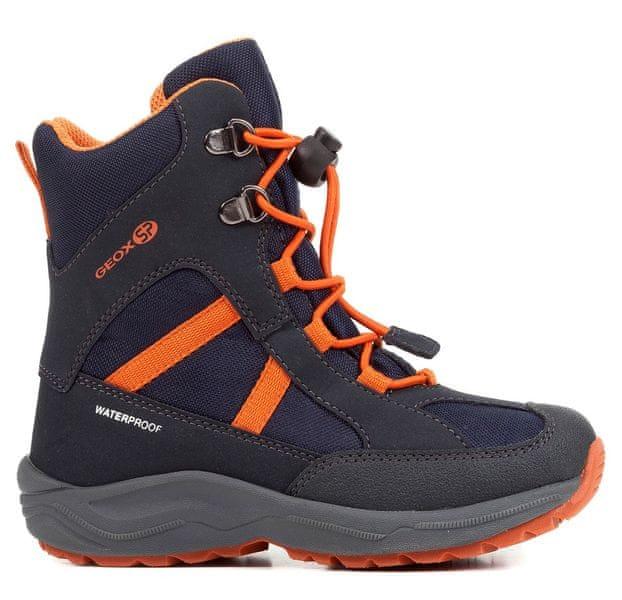 Geox chlapecké zimní boty New Alaska 35 modrá oranžová e999a8cdaa