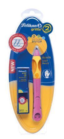 Pelikan svinčnik za levičarje Griffix 2, roza