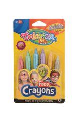 Barvy obličejové Colorino v tužce 6 metalických barev