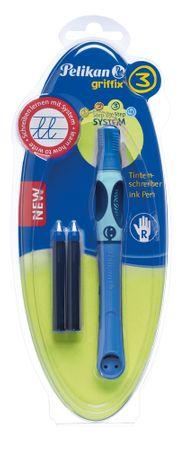Pelikan Inkoustový roller pro praváky Griffix 3 modrý