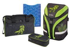 Herlitz Školský batoh motion dino zelený - vybavený