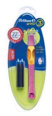 Pelikan Inkoustový roller pro leváky Griffix 3 růžový