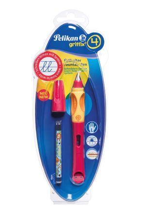 Pelikan nalivno pero na bombico za levičarje Griffix 4, rdeče