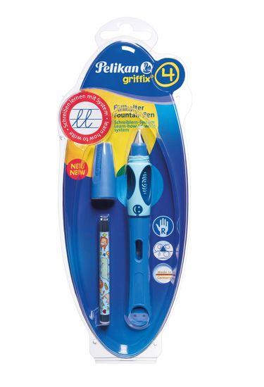Pelikan Bombičkové pero pre pravákov Griffix 4 modré