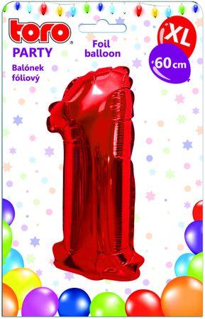 TORO Balónik XL Číslica 1 červená 60 cm
