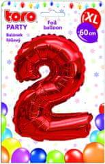 Toro Balónek XL Číslice 2 červená 60 cm