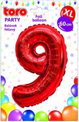 Toro Balónek XL Číslice 9 červená 60 cm