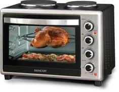 Sencor mini pečica s kuhalnima ploščama SEO 3628SS, 36 l