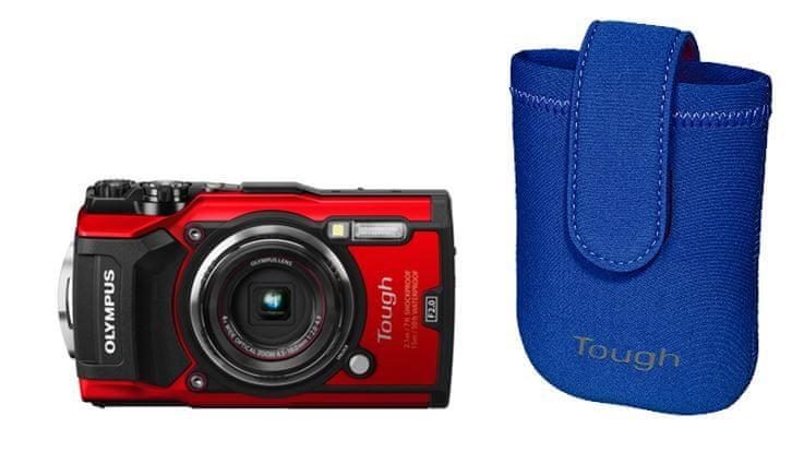 Olympus Tough TG-5 Red + Tough Neoprene Case