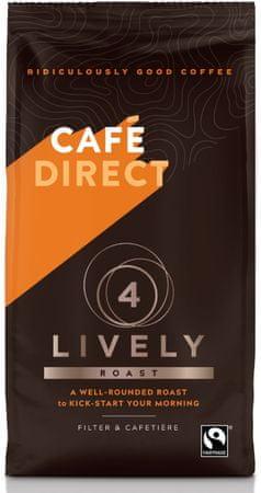 Cafédirect Lively mletá káva s tónmi karamelu 227g