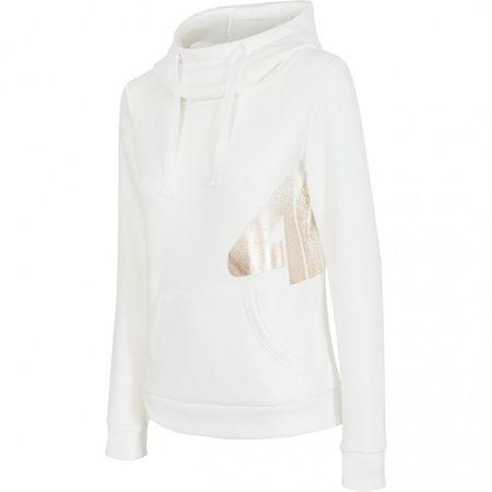 4F ženski pulover, bel, S