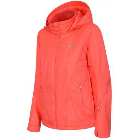 4F ženska smučarska bunda H4Z17-KUDN003, roza, S