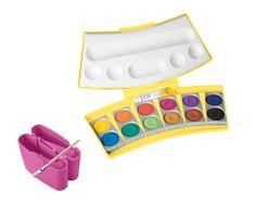 Pelikan Vodové farby Procolor 12 farieb, v žlto-ružovej krabičke