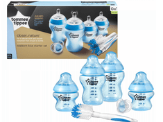 Tommee Tippee Sada kojeneckých lahviček C2N s kartáčem, Modrá