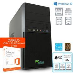 PCplus namizni računalnik e-m@chine i7-7700/8GB/SSD120GB+HDD1TB/Win10Home (137011)