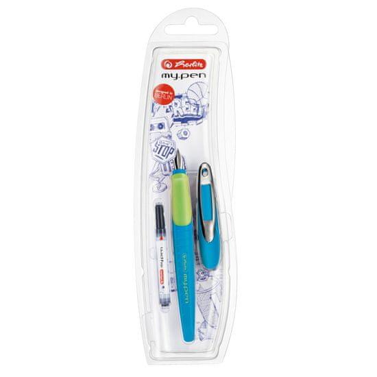 Herlitz nalivpero my.pen-M, plavo/zeleno