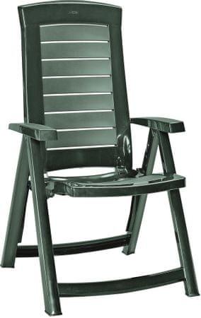 Allibert ARUBA állítható kerti szék, zöld