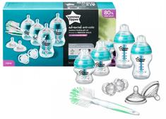 Tommee Tippee set otroških steklenič C2N ANTI-COLIC s krtačko
