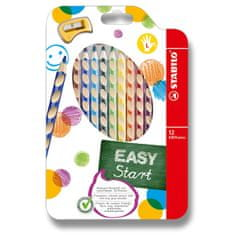 Pastelky Stabilo EASYcolors pro leváky 12 ks + ořezávátko