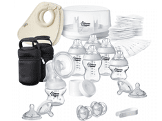 Tommee Tippee Sada dojčenských fľaštičiek C2N so sterilizátorom a odsávačkou