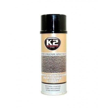 K2 barva za plastične površine Bumper Spray, 400 ml, črna