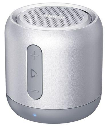 Anker zvočnik SoundCore MINI, 5W, brezžični, z mikrofonom in FM radiem, siv