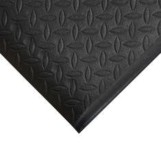 Černá gumová protiskluzová protiúnavová průmyslová rohož - 0,9 cm