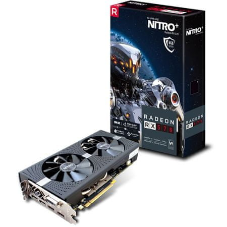 Sapphire grafična kartica RX 570 OC 8GB GDDR5 PCI-E Nitro lite