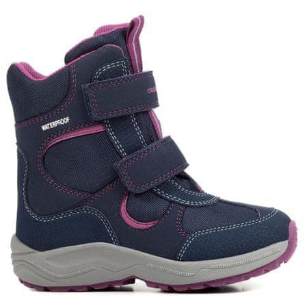 Geox dievčenské zimné topánky New Alaska 34 modrá  d33f96b1020