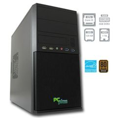 PCplus namizni računalnik e-m@chine i5-7400/8GB/120GB+1TB/FreeDOS (137004)