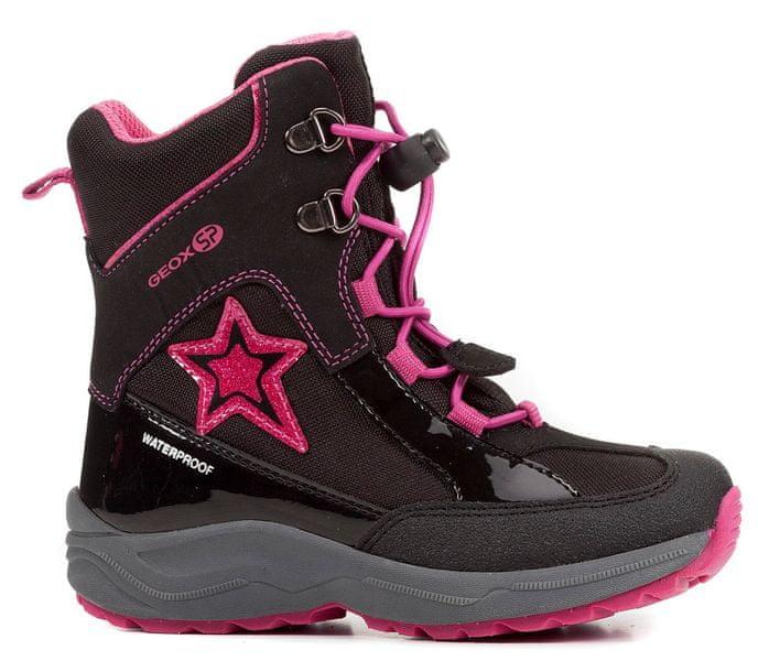 Geox dívčí zimní boty New Alaska 29 černá růžová fb7af96b5d