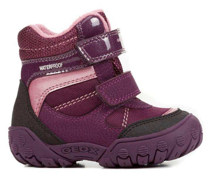 Geox dívčí zimní boty Gulp 23 fialová