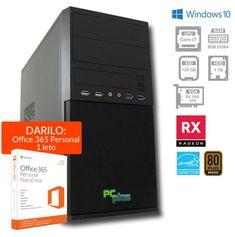 PCplus namizni računalnik e-m@chine i7-7700/8GB/120GB+1TB/RX560/WIn10H (137016)