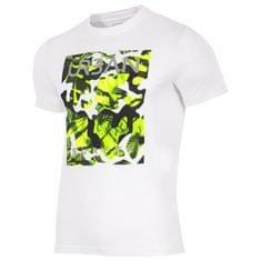 4F moška kratka majica H4L17-TSM007, bela