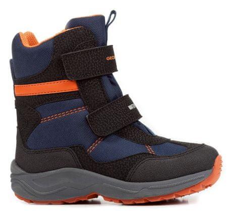 Geox chlapecké zimní boty New Alaska 24 černá/modrá