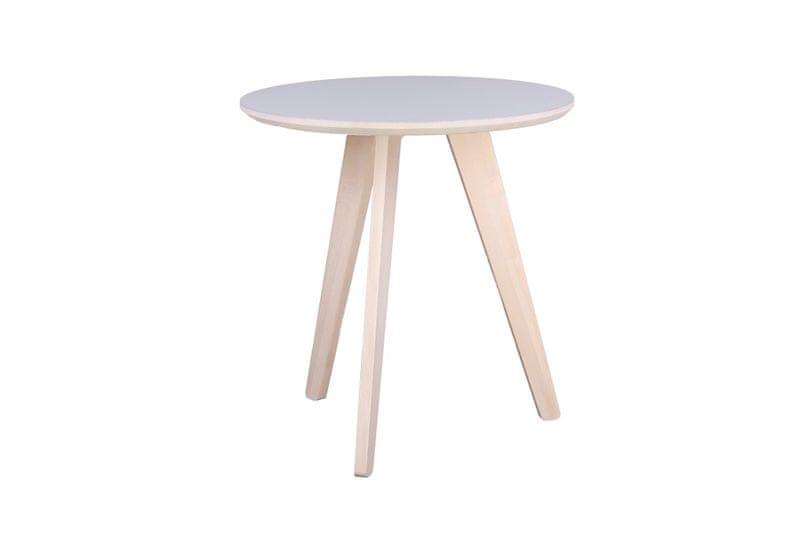Mørtens Furniture Odkládací stolek Ruby, 53 cm, světlé dřevo