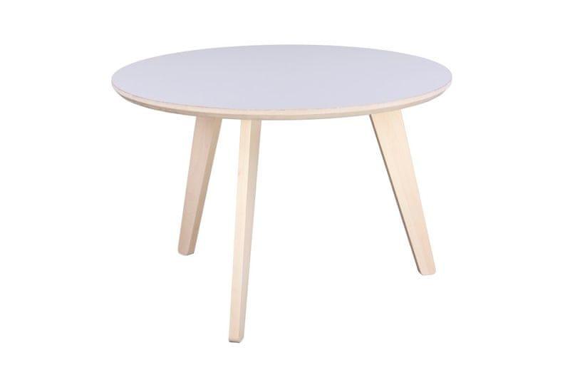Mørtens Furniture Konferenční stolek Ruby, 67 cm, světlé dřevo